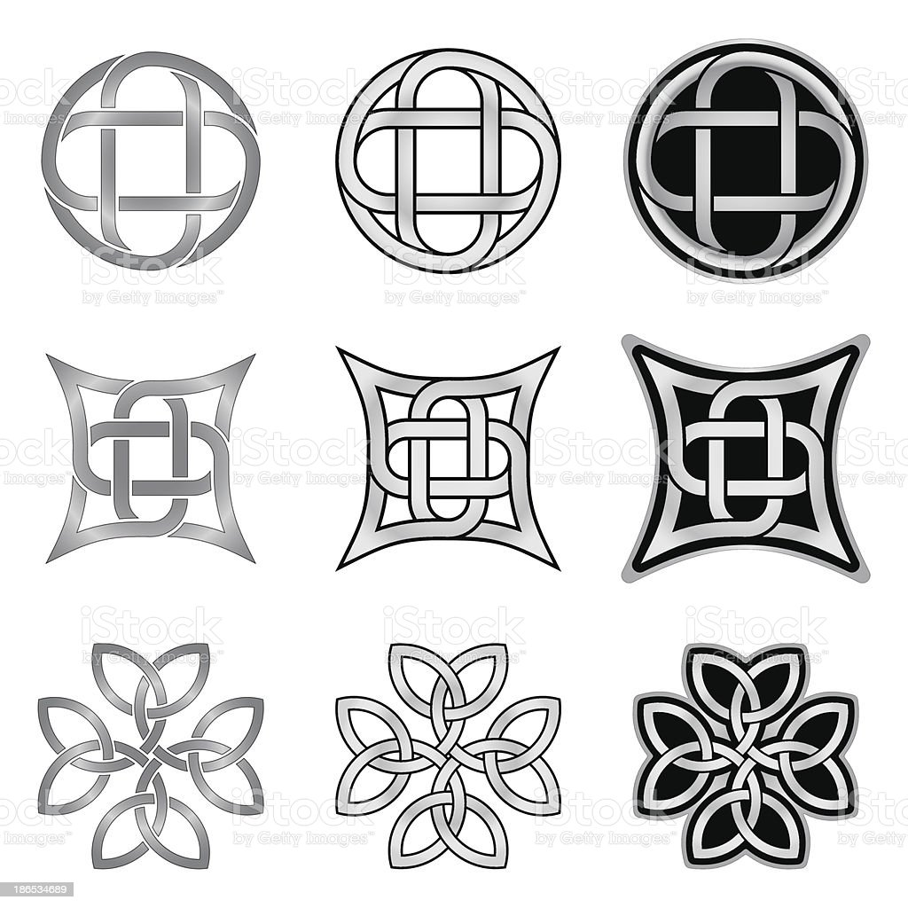 Celtic knot patterns and templates stock vector art 186534689 istock celtic knot patterns and templates royalty free stock vector art pronofoot35fo Image collections