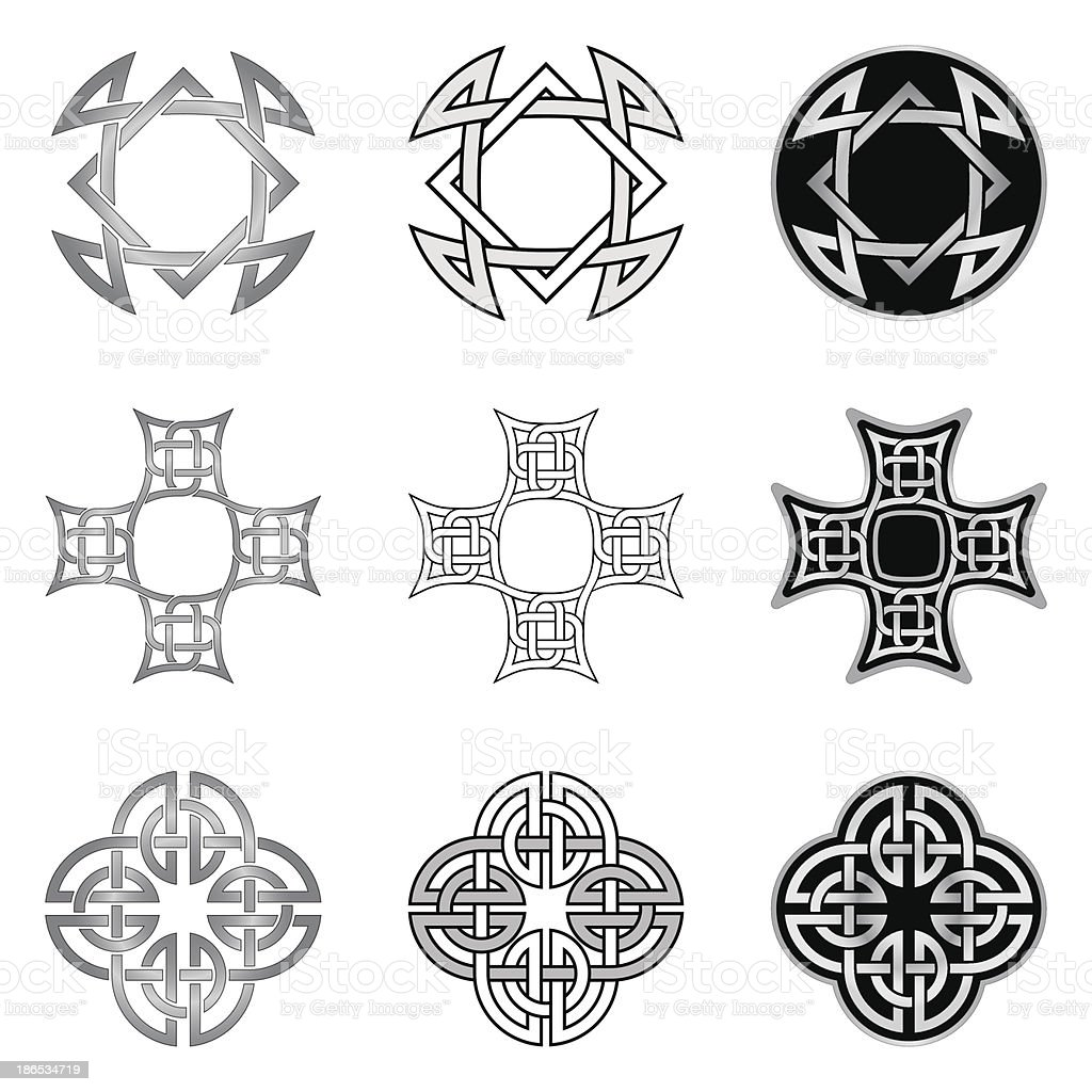 Celtic Knot Patterns and Templates royalty-free stock vector art