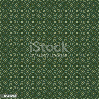 Beautiful gold Celtic knot on solid background
