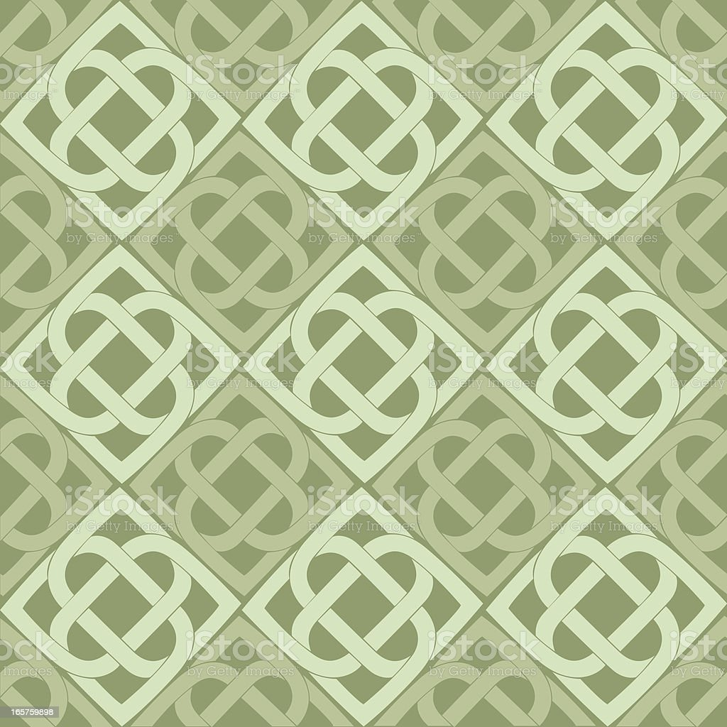Celtic knot seamless pattern royalty-free stock vector art