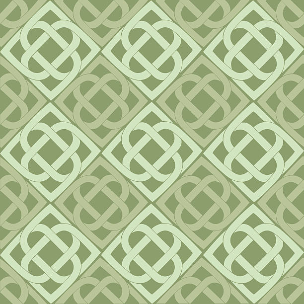 Celtic knot seamless pattern Vector Celtic knot seamless pattern celtic knot stock illustrations