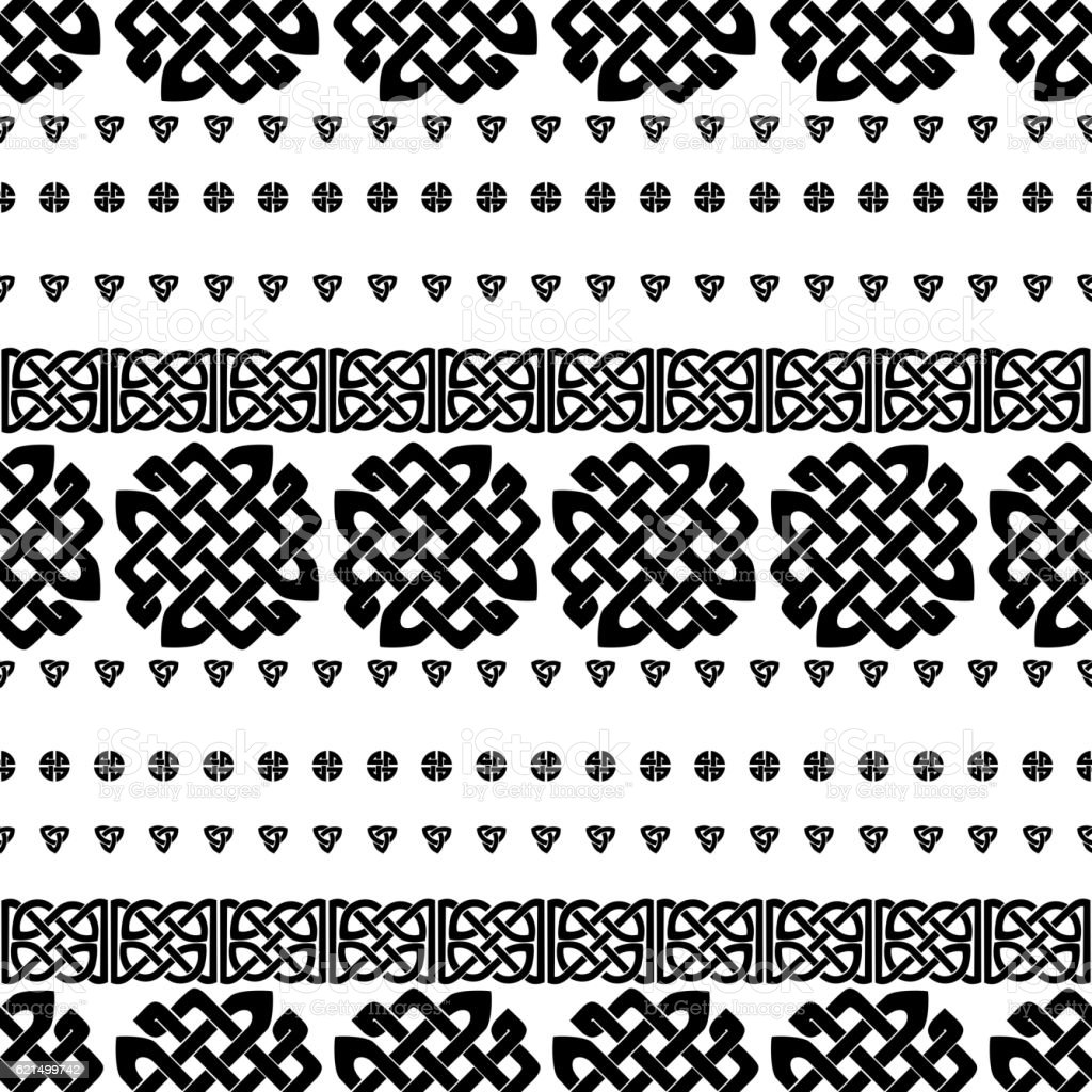 Motif de noeud celtique sans coutures motif de noeud celtique sans coutures – cliparts vectoriels et plus d'images de abstrait libre de droits