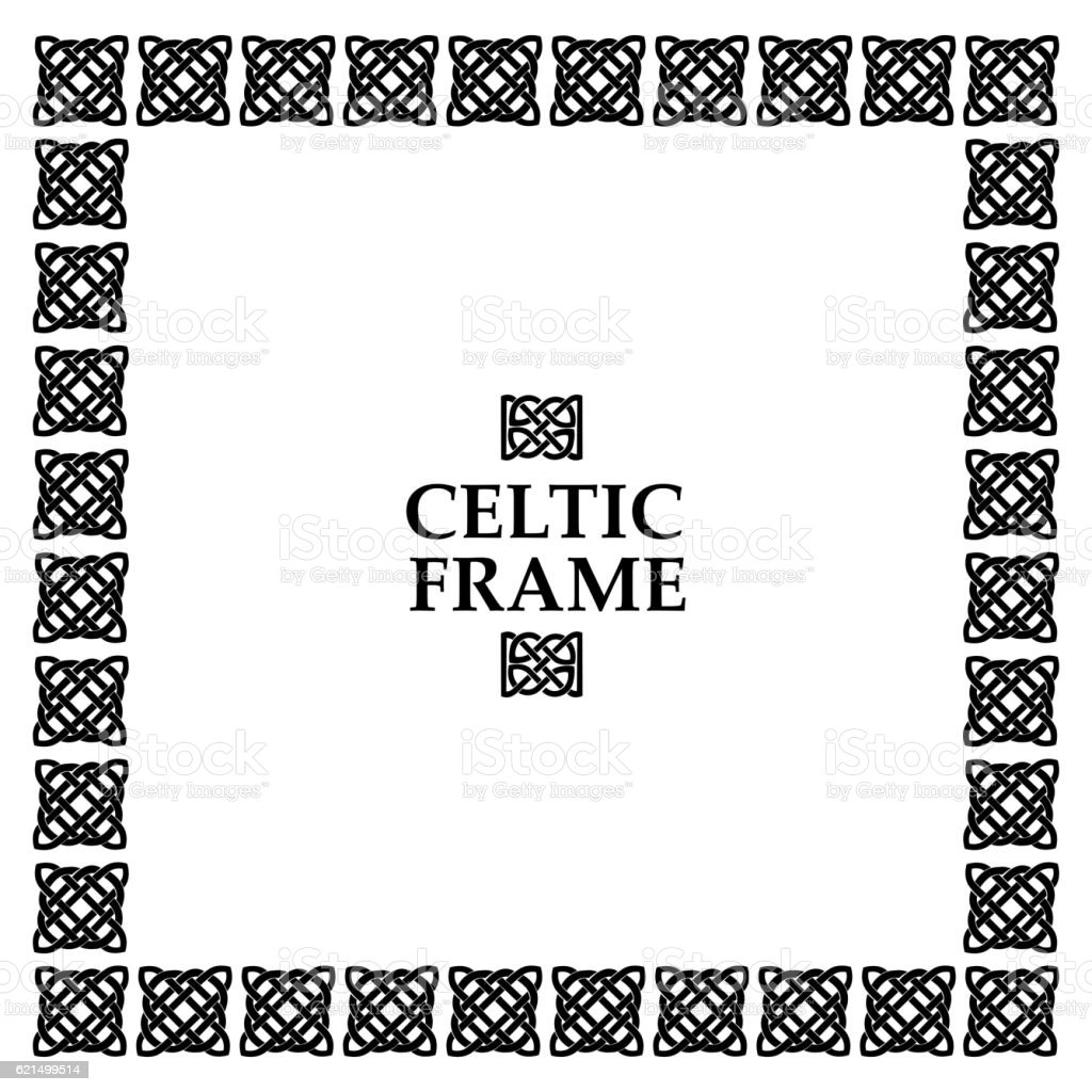 Celtic knot square frame celtic knot square frame – cliparts vectoriels et plus d'images de abstrait libre de droits