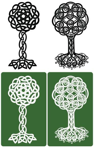 Celtic Knot Trees
