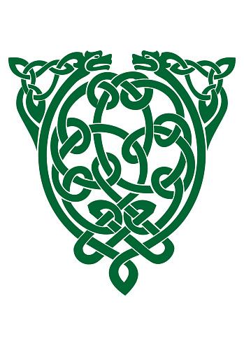 Celtic knot vector symbol