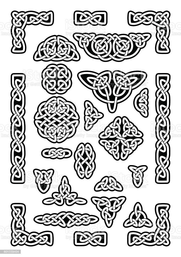 Celtic Knots Collection vector art illustration