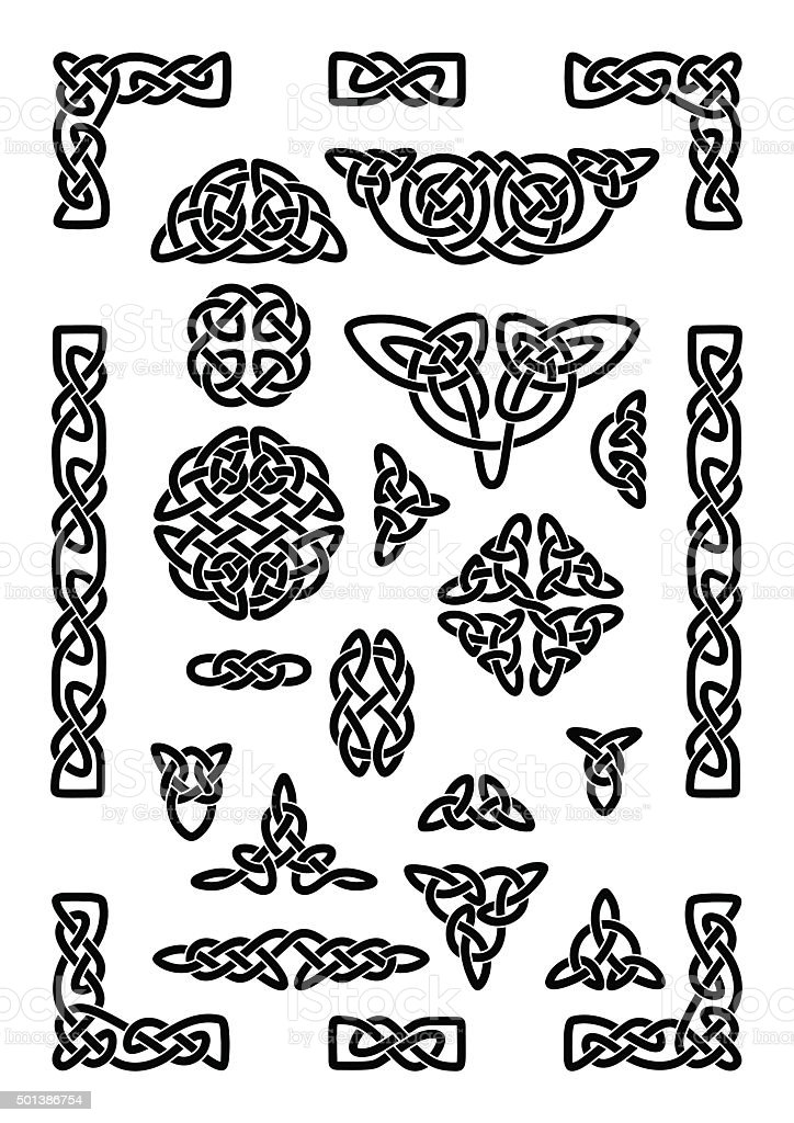 Celtic Knots Collection vector art illustration