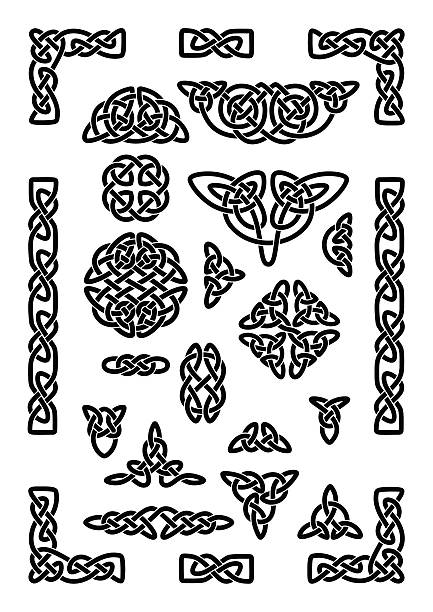 Celtic Knots Collection Collection of various celtic knots, celtic frame, vector illustration celtic knot stock illustrations