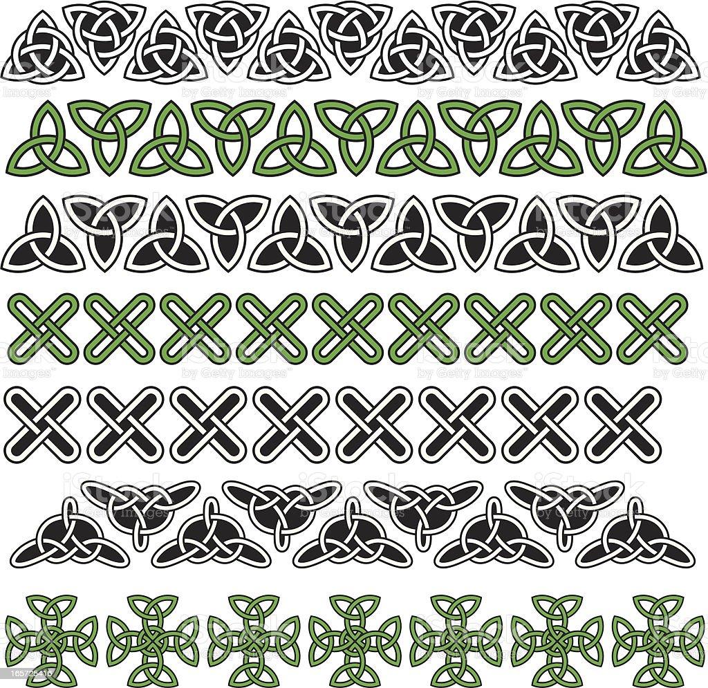 Celtic knots pattern royalty-free stock vector art
