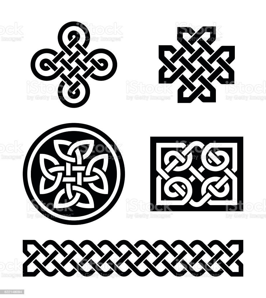 Celtic knots patterns - vector vector art illustration