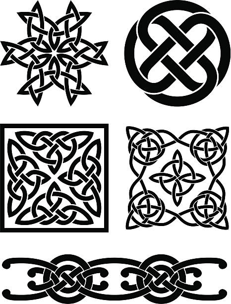 Celtic knots These are original designs I created for use as spot illustrations on invitations and advertisements. celtic knot stock illustrations