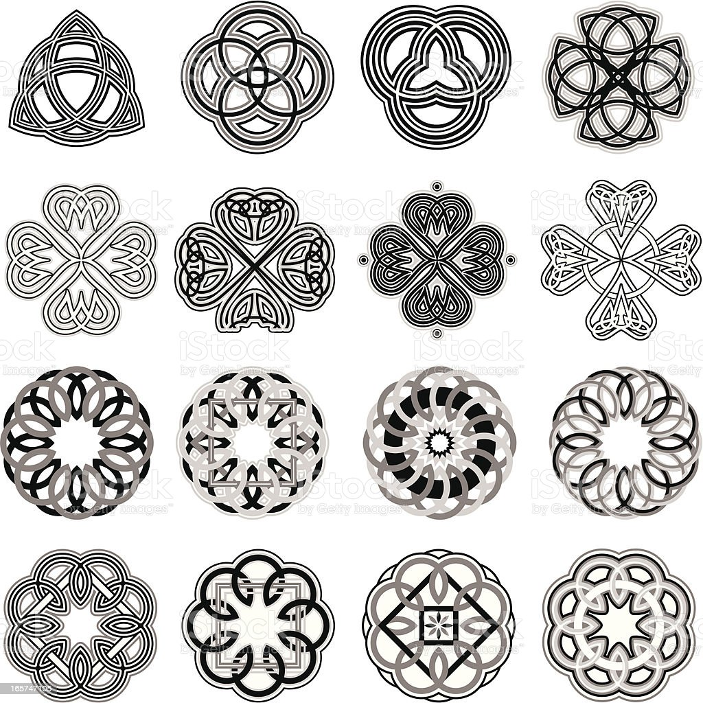 Celtic Knots vector art illustration