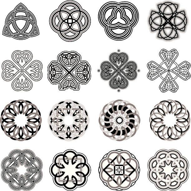 illustrations, cliparts, dessins animés et icônes de nœuds celtiques - tatouages celtiques