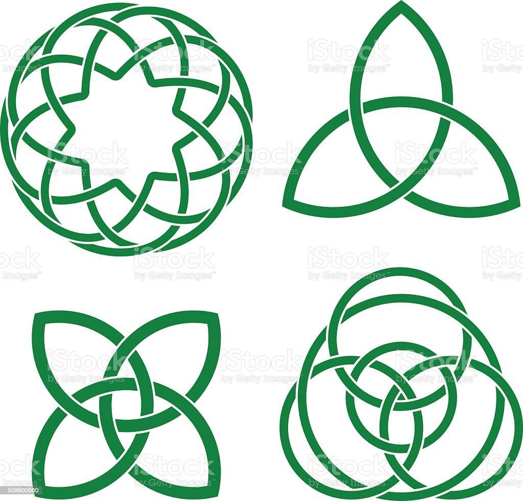 celtic knots vector art illustration