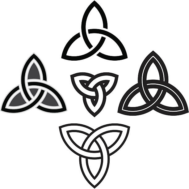 Celtic Knotwork Triquetra, Celtic Knotwork, Tattoo celtic knot stock illustrations