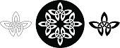 Celtic leaf ornament (Infinity knot variation n° 1)