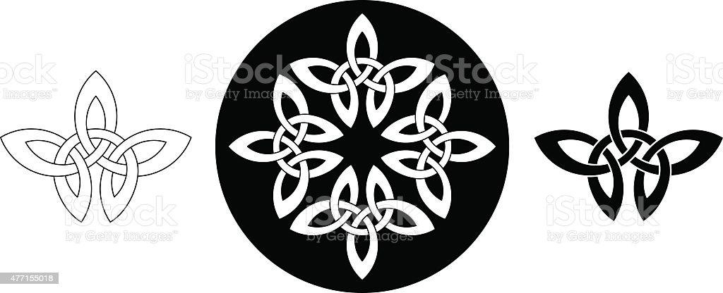 ケルトリーフ飾り(インフィニティスポーツ結び目の変動 N °1 ベクターアートイラスト