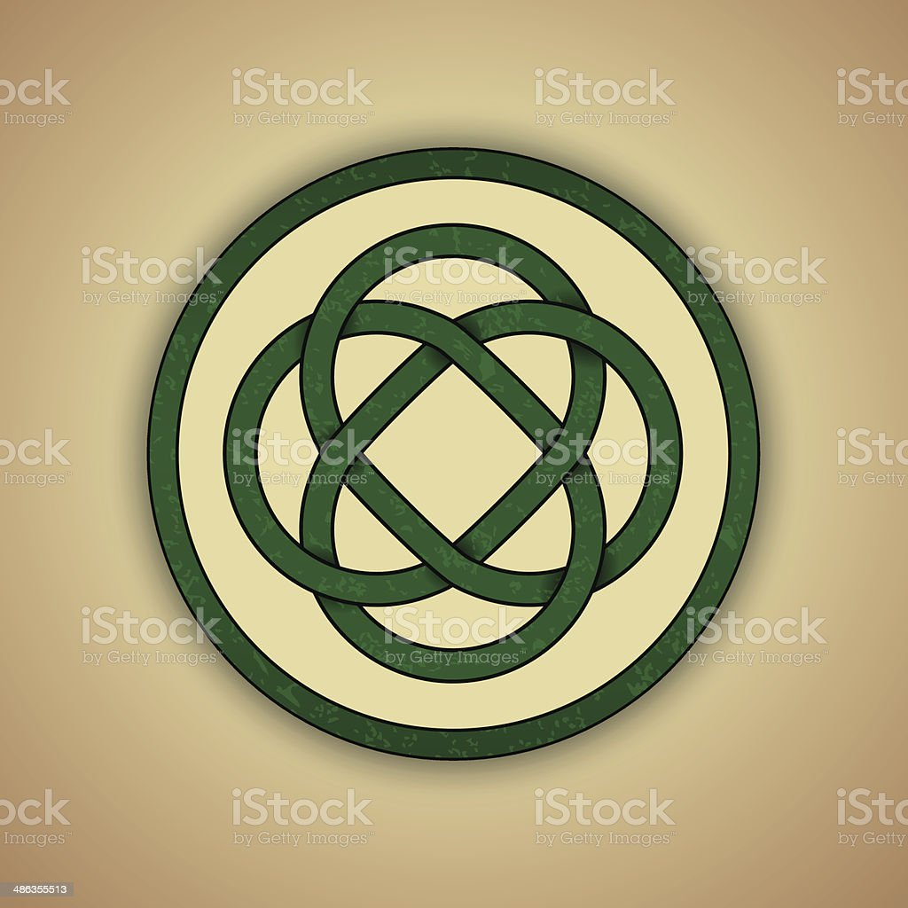 Celtic Lovers Knot Symbol Of Eternal Love Stock Vector Art More