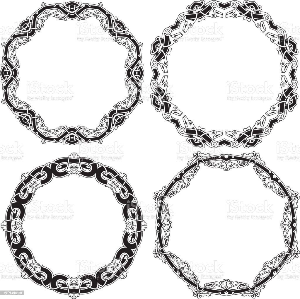 Celtic ornamental circles Lizenzfreies celtic ornamental circles stock vektor art und mehr bilder von biegung