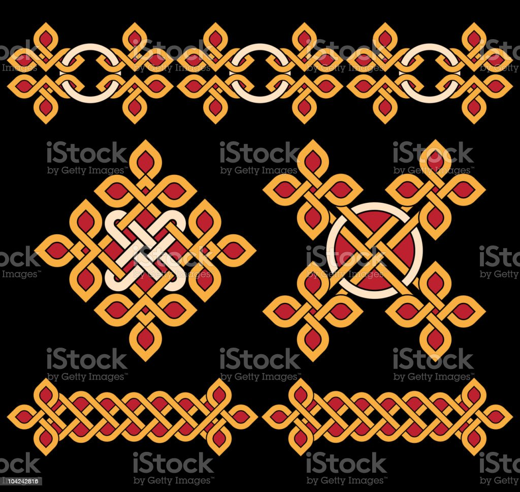 celtic ornaments royalty-free celtic ornaments stock vector art & more images of black color