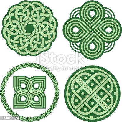istock Celtic ornaments (Vector) 165032373