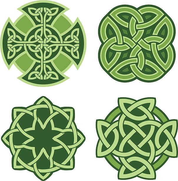 Celtic ornaments (Vector) Four celtic knots in vector format celtic knot stock illustrations