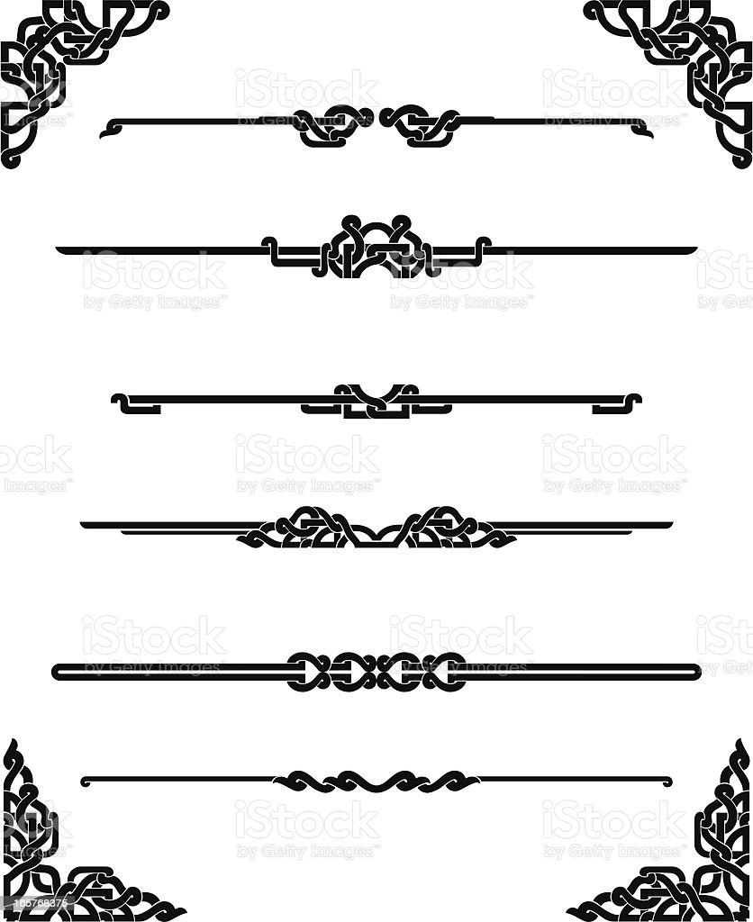 Celtic Page Rules vector art illustration