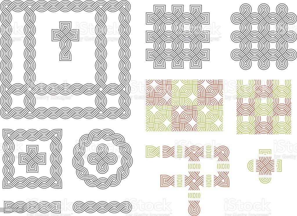 Celtic patterns vector art illustration