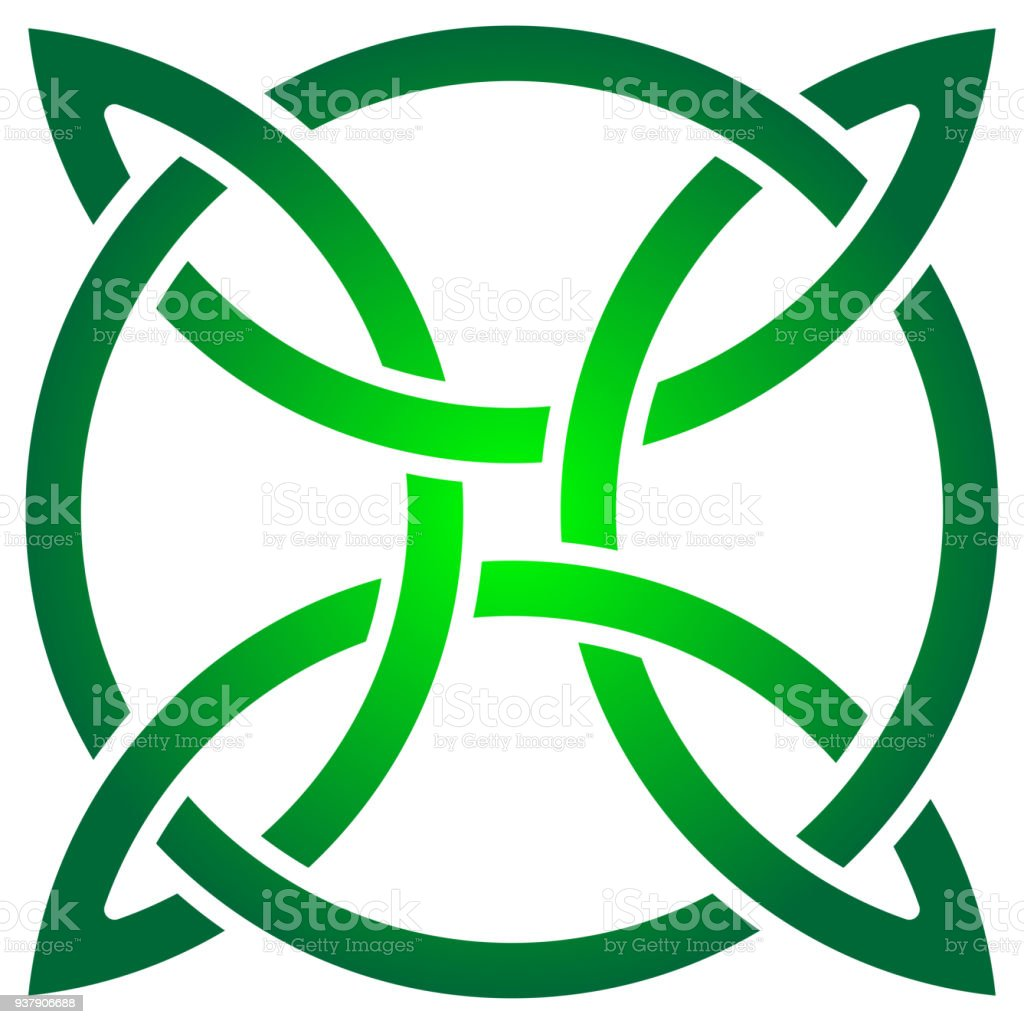 Celtic shamrock knot in circle symbol of ireland stock vector art celtic shamrock knot in circle symbol of ireland royalty free celtic shamrock knot in biocorpaavc Gallery