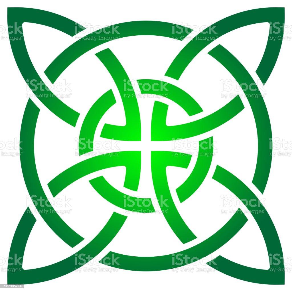 Celtic Shamrock Knot In Circle Symbol Of Ireland Stock Vector Art