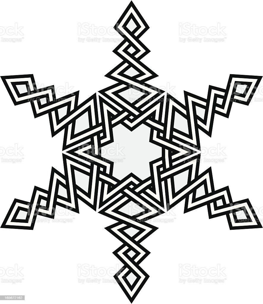 Celtic Snowflake, vector illustration. vector art illustration