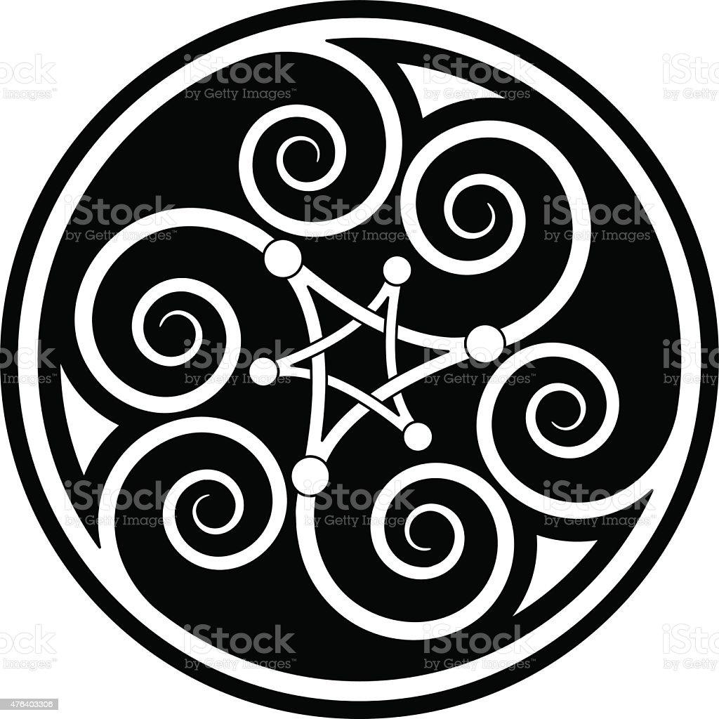 Celtic Spiral Mandala Stock Vector Art More Images Of 2015