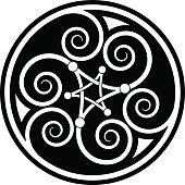 Celtic spiral mandala (Triskelion variation n° 4)