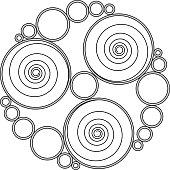 Celtic spirals and rings (Triskelion variation n° 1)