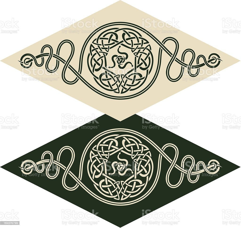 Celtic style pattern royalty-free stock vector art