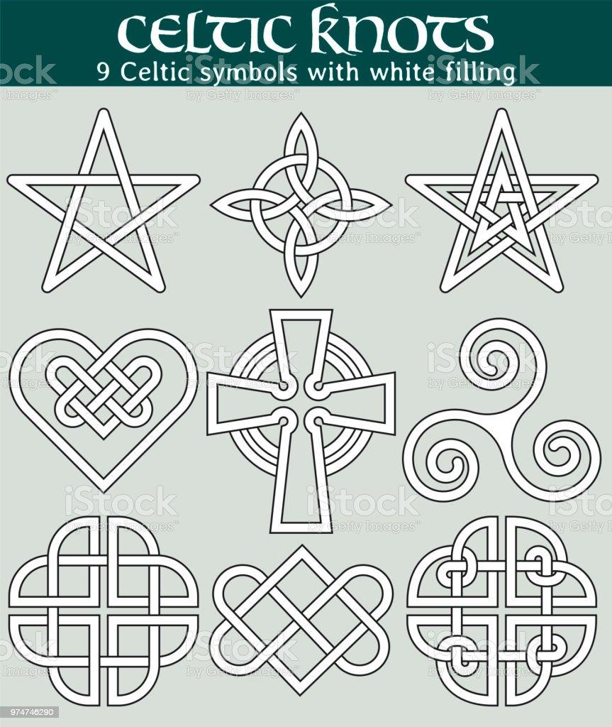 Ilustración de Símbolos Celtas Con Relleno y más banco de imágenes ...