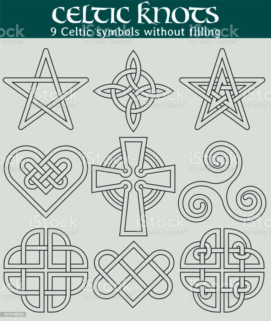 Ilustración de Símbolos Celtas Sin Relleno y más banco de imágenes ...