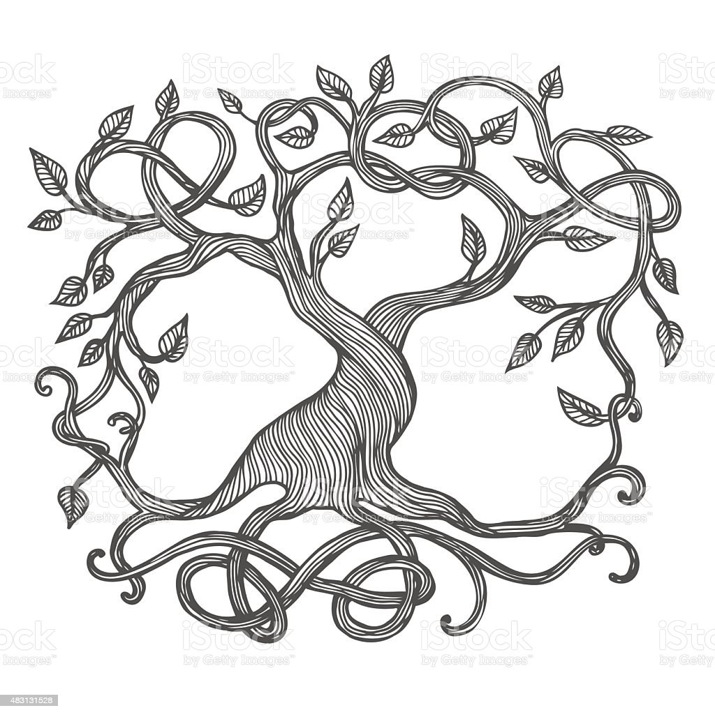 Celtic Tree of Life vector art illustration