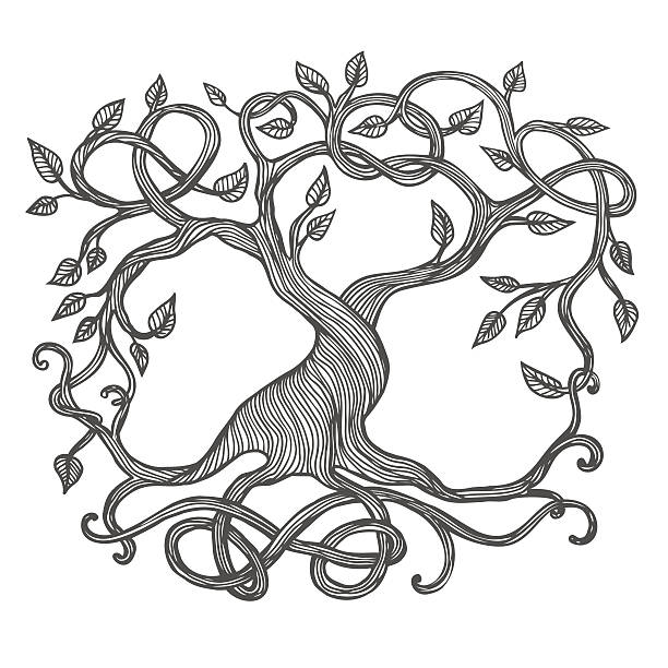 Keltische Tree of Life – Vektorgrafik