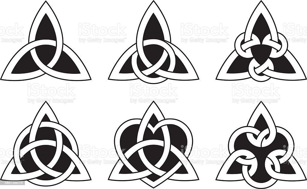 Celtic Triangle Knots vector art illustration