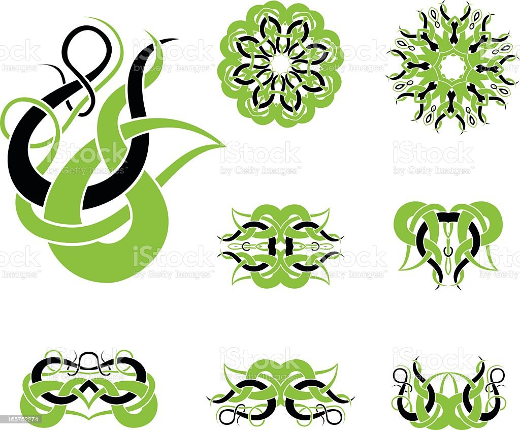 Celtic tribal knotworks set royalty-free celtic tribal knotworks set stock vector art & more images of abstract