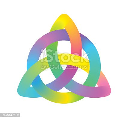 Colourful Vector illustration of Trinity Knot symbol for use as corporate identity or logo