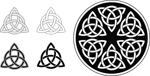 Celtic trinity ornament / triquetra (Infinity knot variation n° 2)