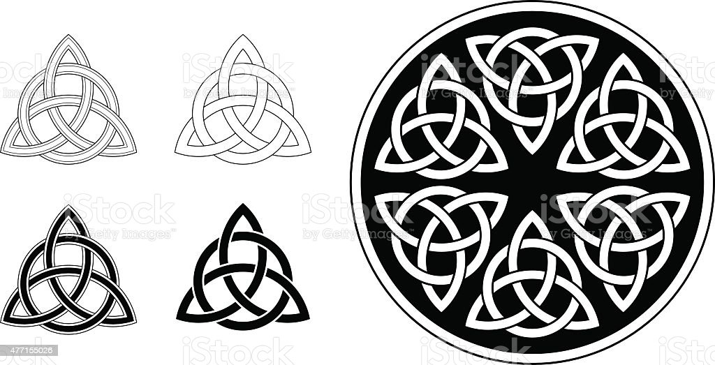 Celtic trinity ornament / triquetra (Infinity knot variation n° 2) vector art illustration