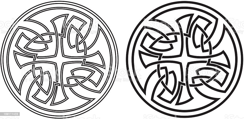 Celtic vector round ornament