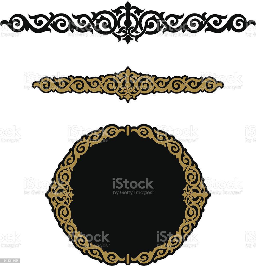 Celtic Weave Scroll royalty-free stock vector art