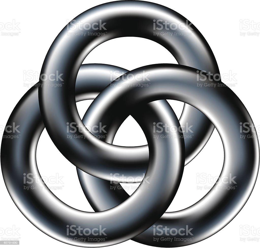 Celtic wedding band or corporate unity symbol vector art illustration