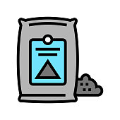 cement bag color icon vector illustration