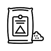 cement bag line icon vector illustration