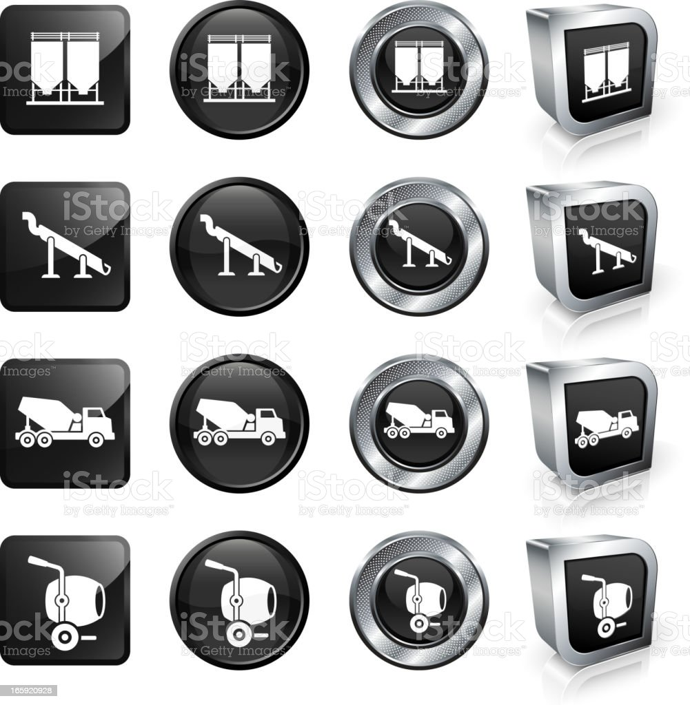 Cement Equipment and Machinery royalty free vector button set royalty-free cement equipment and machinery royalty free vector button set stock vector art & more images of asphalt